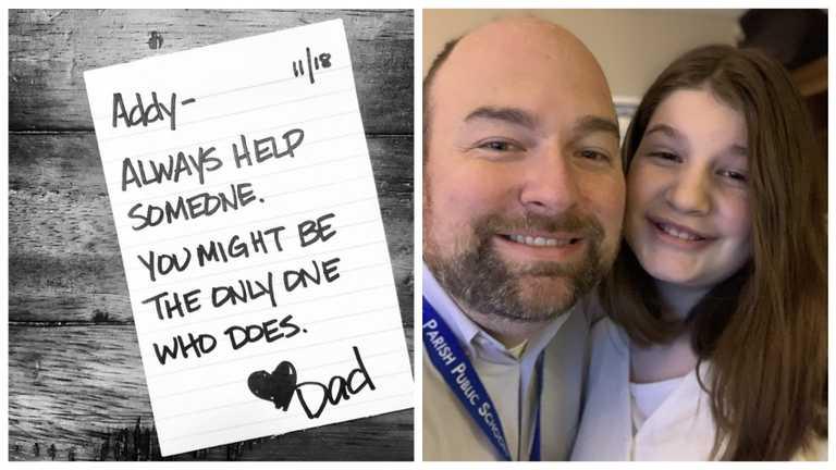 «У тебя есть сила изменить чью-то жизнь»: папа написал дочери 690 записок в школу